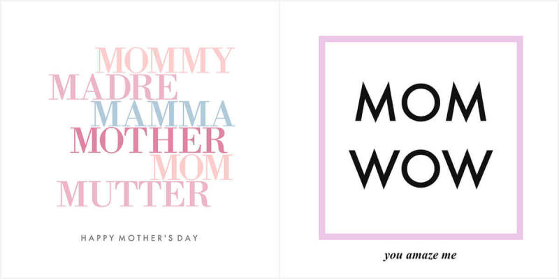 Sometimes a minimalistic card is just the right thing on Mother's Day.