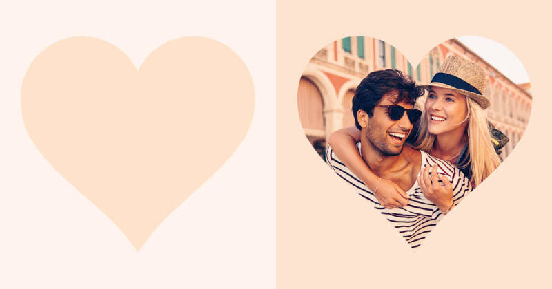 PicMonkey's heart-shaped cutout is perfect for adding a little love to your designs and photos.