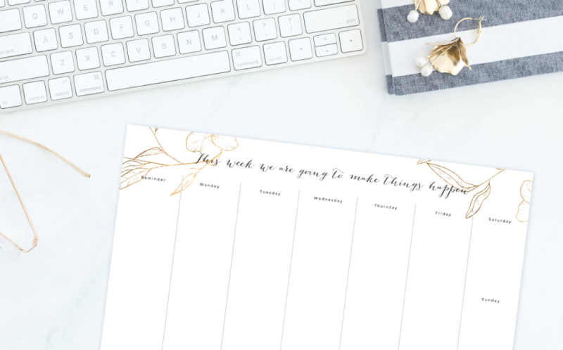 This beautiful calendar template is perfect for wedding planning.
