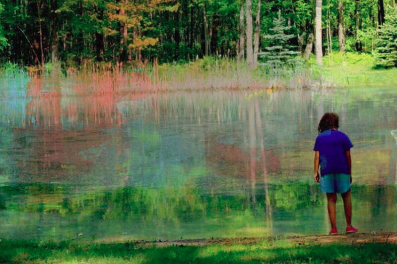 A PicMonkeyer beautifies a nature shot with one of our Paint textures.