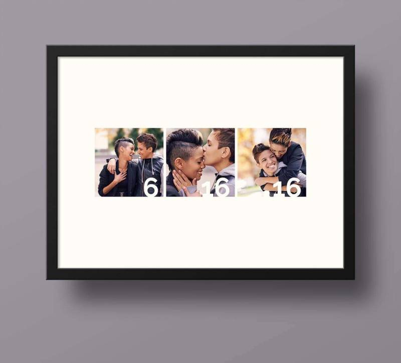 Create a framable collage with your wedding date and have guests sign it instead of a guest book.