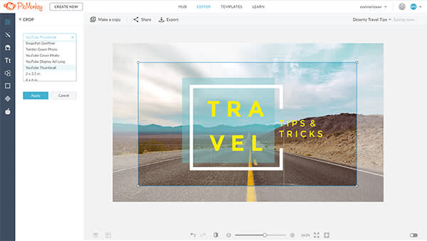 Choose a preset template for the perfect fit in your social media.