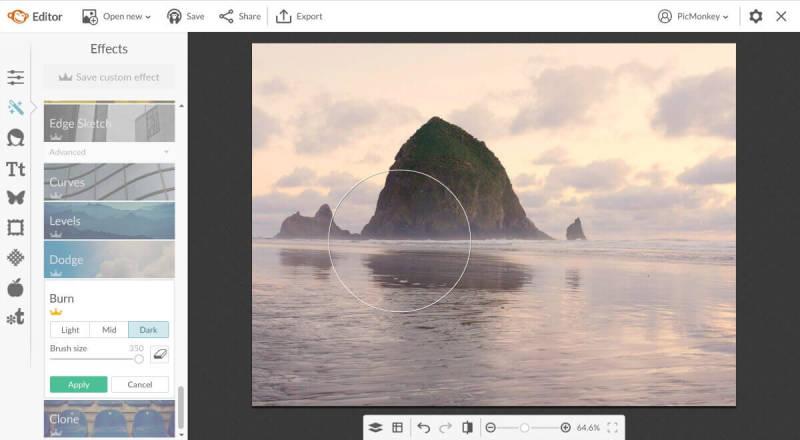 burn, edit pictures background