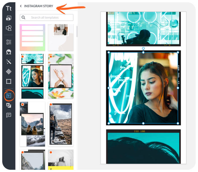 Utiliser des modèles pour créer des stories Instagram