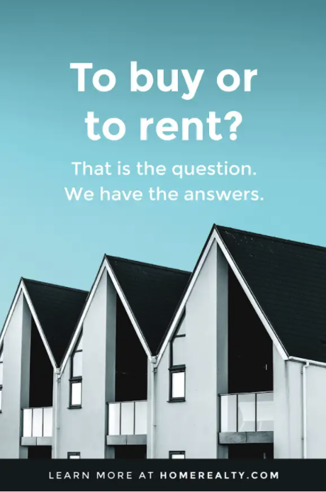 buy or rent real estate pinterest pin