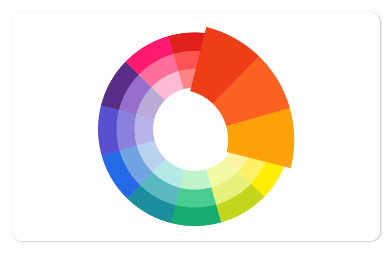 analogous colors on a color wheel