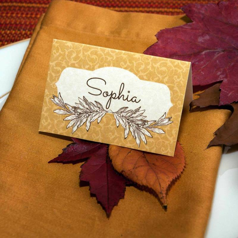 Make Place Cards for Your Fancy Dinner