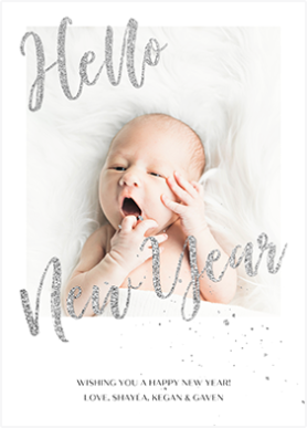 Shiny New Year Baby template