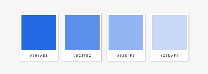 monochromatic color scheme -  blue hue