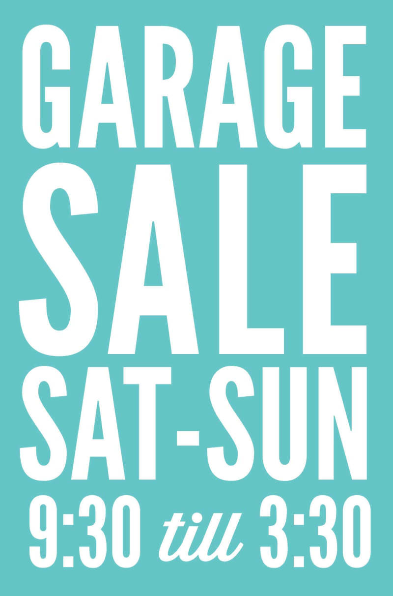 Get free, printable garage sale signs and tips from PicMonkey.