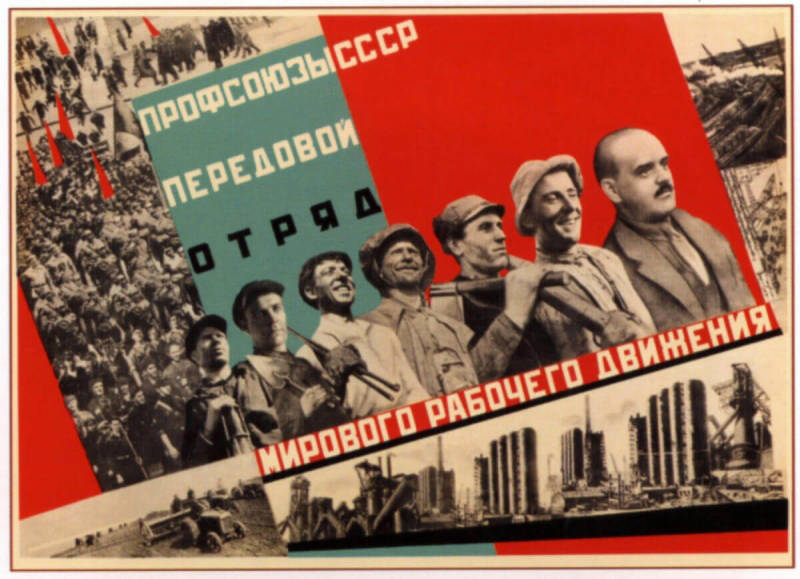 An example of Russian Constructivism in propaganda posters.