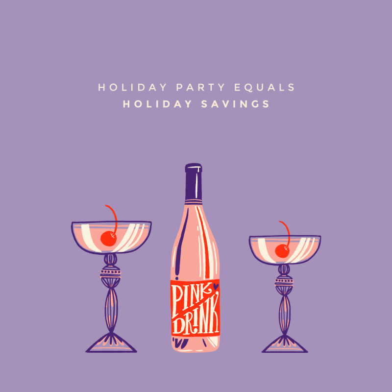 Holiday Party Savings Facebook Post Template