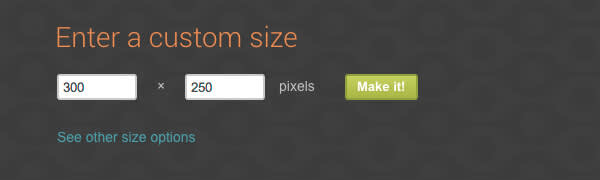 Customize the size of a blank canvas in PicMonkey's Design tool.