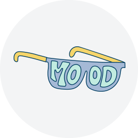 Mood sunglasses sticker