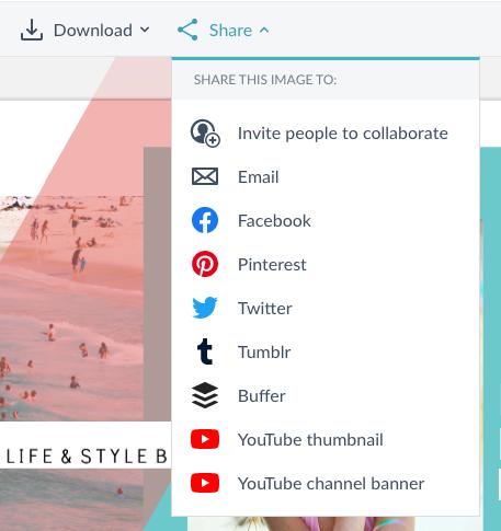 Compartir en YouTube como una miniatura o un banner