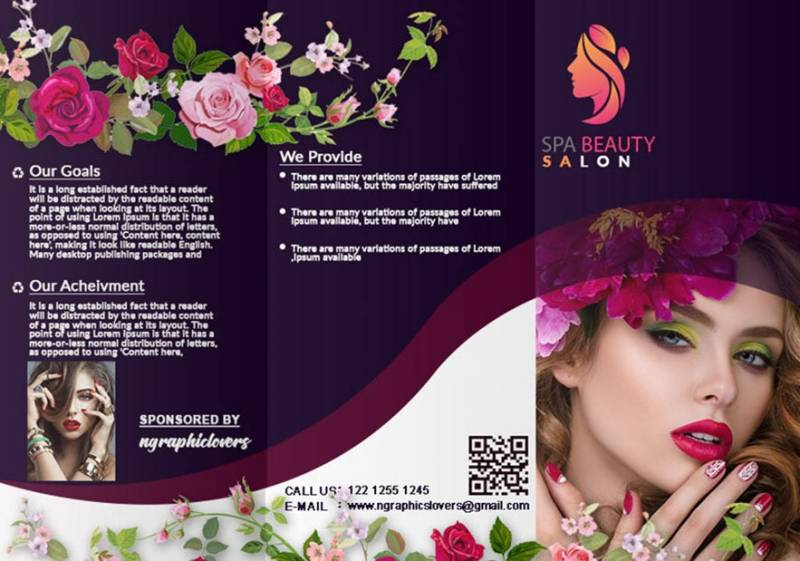 Spa Beauty Salon Brochure Design Example