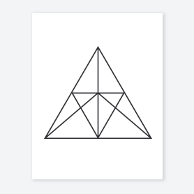 Triangle 8 Coloring Page - Free Geometry Coloring Pages ... | 278x278