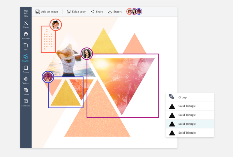 Real-time collaboration tools at PicMonkey