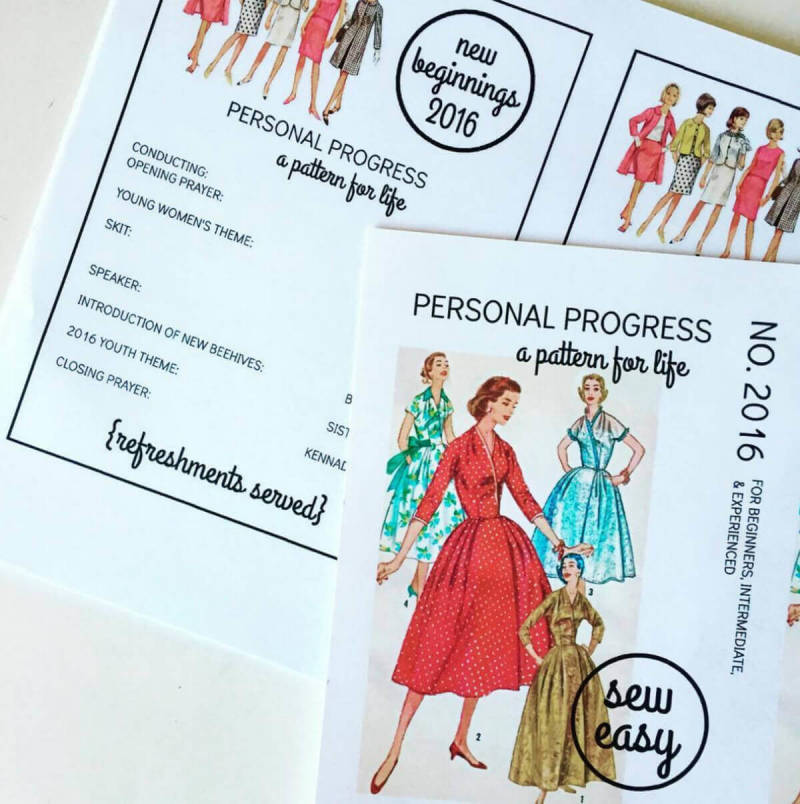 PicMonkeyer Larissa Zitzman designed these invites to look like vintage sewing patterns.