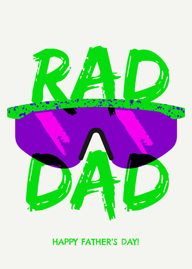 Rad Dad with sunglasses, Father's Day card design template from PicMonkey.