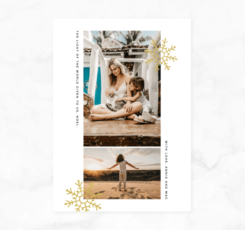 Sending out holiday cards is a good way to reconnect with family and friends.