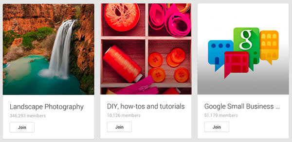 Google Plus tips for brands: engage with communities on Google+.
