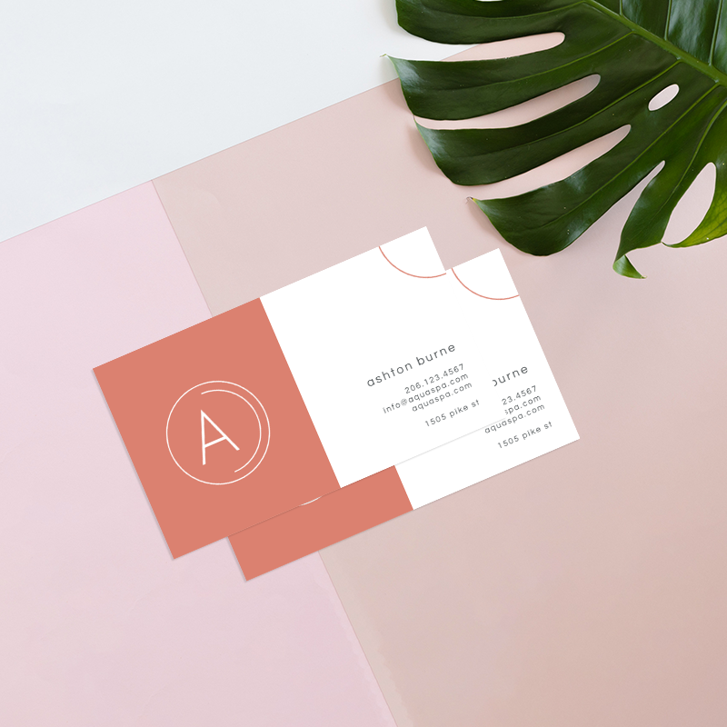 make a business card with simple graphics