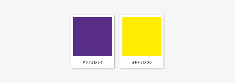 complimentary palette - purple and yellow