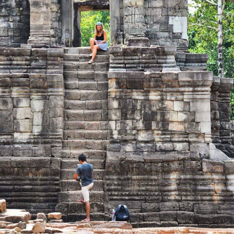 A user photo at the Angkor Wat temple complex in Cambodia.