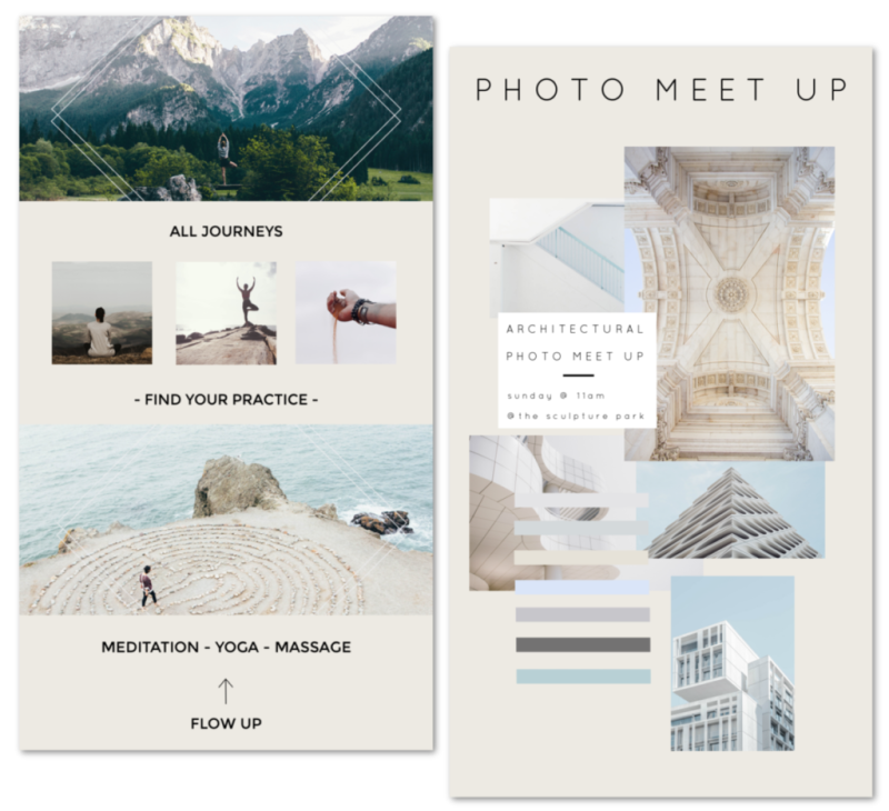 instagram sizes and templates