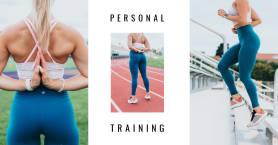 Plantilla de portada de collage de Facebook PicMonkey para entrenadores personales.