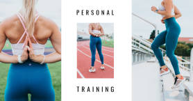 PicMonkey Facebook collage cover template for personal trainers.
