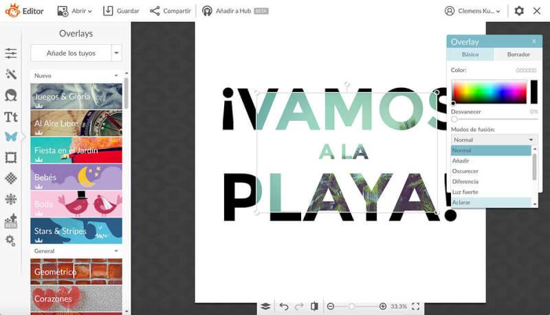 Máscara de texto, máscara de recorte, texto, diseño, PicMonkey