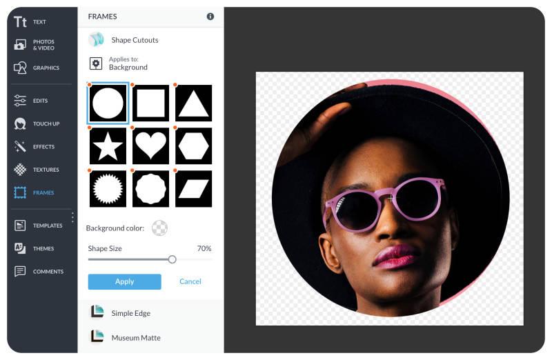 usa recortes de formas para hacer una imagen circular
