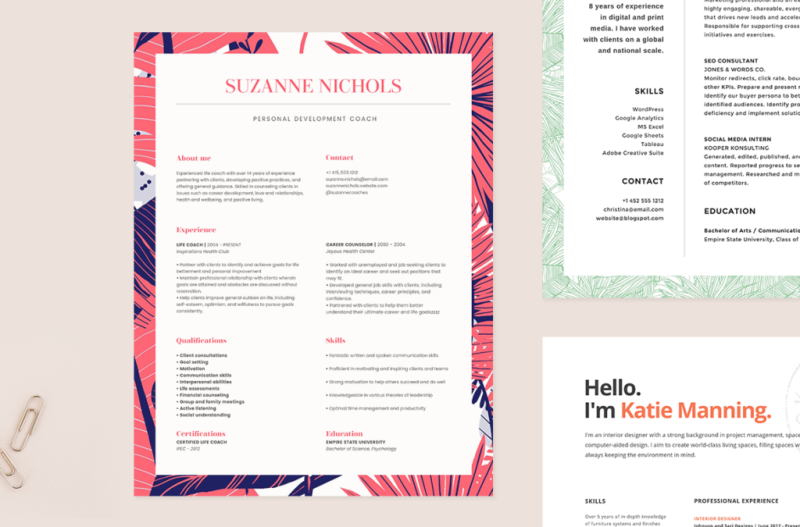 PicMonkey's resume templates help you create a winning resume.