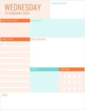Pastel colored checklist template at PicMonkey