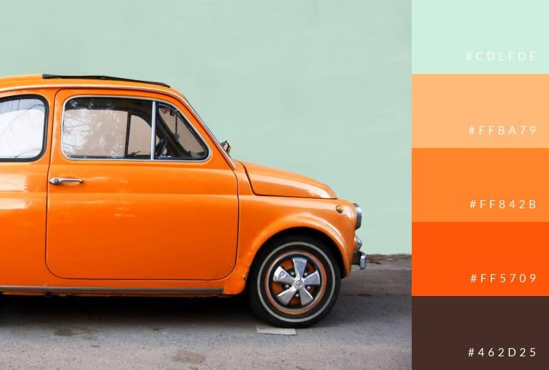 color-palette-vintage-car