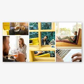 Créateur de collage photo : modèle de collage monde des affaires