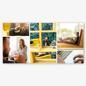 Photo Collage Maker Plantilla de collage empresarial