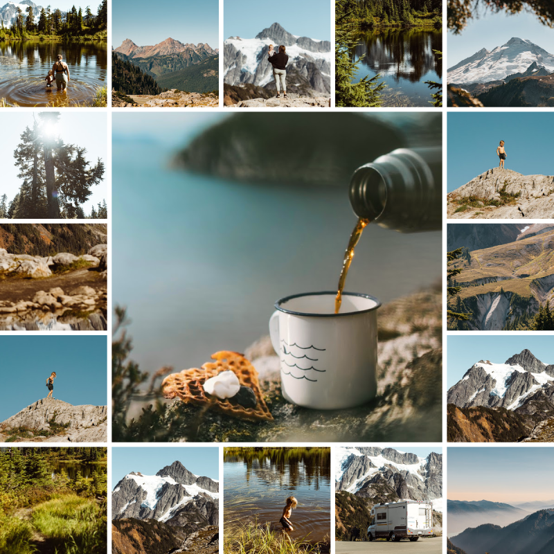 Coffee Collage Facebook Post Template