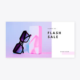Hurry In Flash Sale ad template