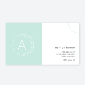Teal business card template