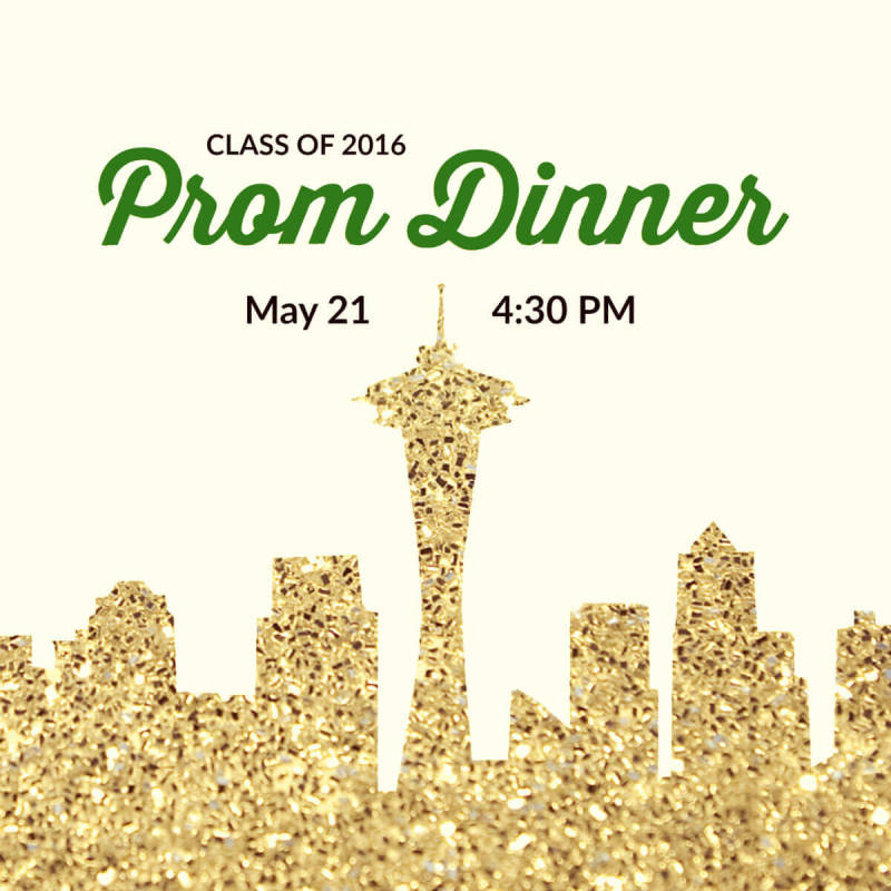Crystal's design tips turned this prom dinner invitation into a light, sparkly wonderpiece.