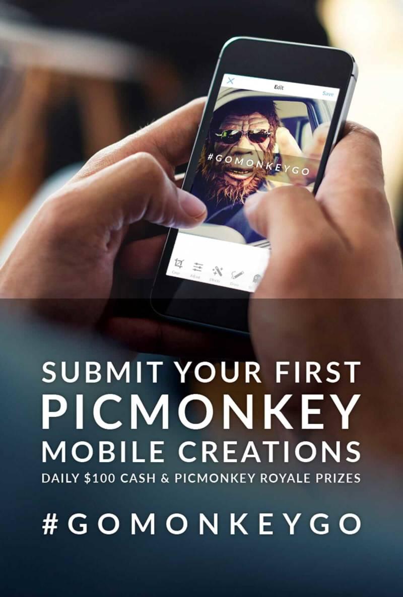 Contest, #GoMonkeyGo, Mobile, App