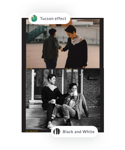 photo effects to use with your photo stitch collage