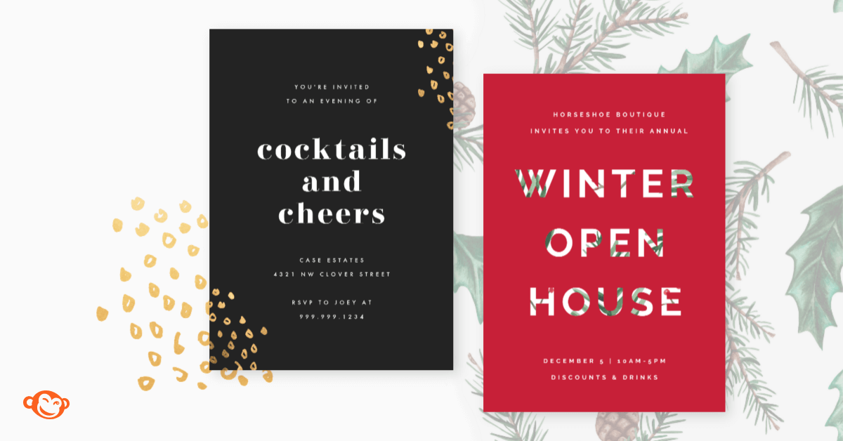 Holiday Party Invitations For Business Pleasure Picmonkey