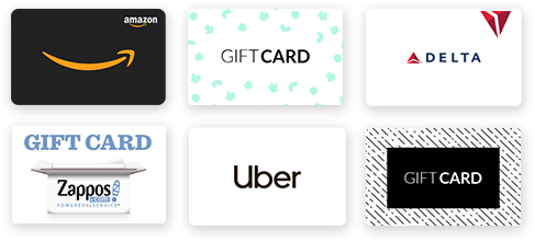 Referral program gift card rewards
