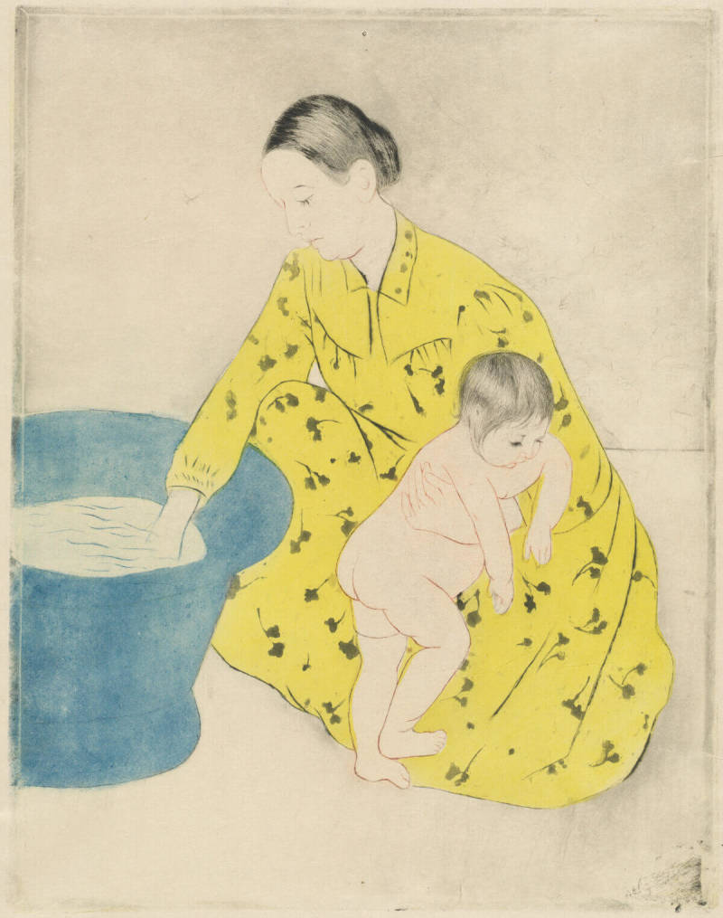 The National Gallery of Art includes public domain images like this Mary Cassatt print.