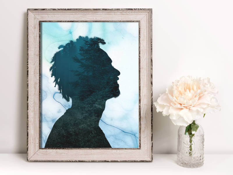 DIY Silhouette Gift photo in frame