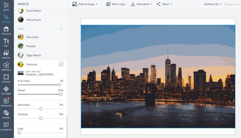Manhattan skyline with PicMonkey's
